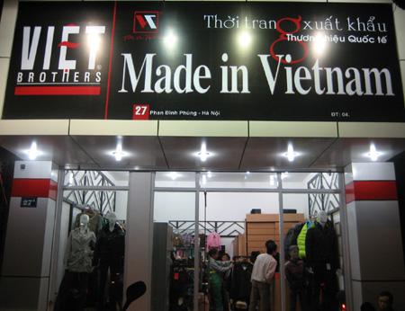 biển quảng cáo bán quần áo vnxk