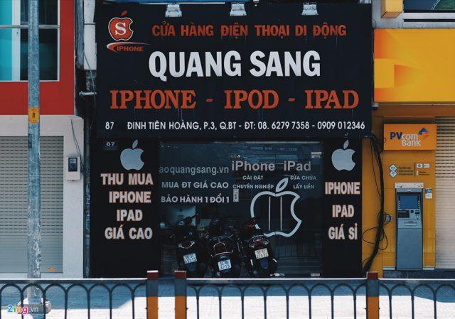 mẫu biển quảng cáo cửa hàng điện thoại ốp nhôm chữ nổi