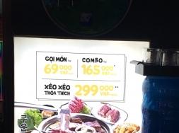 Biển quảng cáo bằng bạt hiflex
