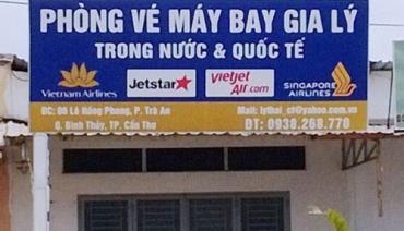Mẫu biển quảng cáo phòng vé máy bay đẹp