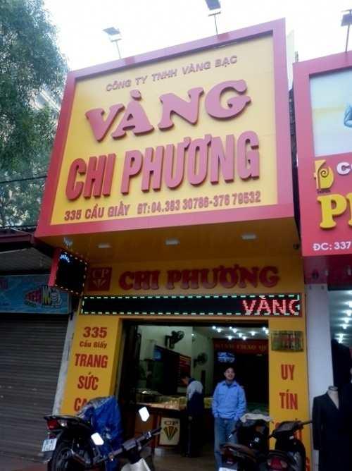 mẫu biển quảng cáo cửa hàng vàng chi phương