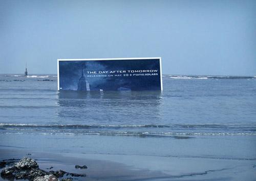biển quảng cáo bộ phim thảm họa
