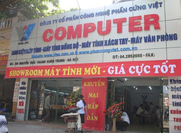 Mẫu biển quảng cáo máy tính ốp nhôm chữ nổi