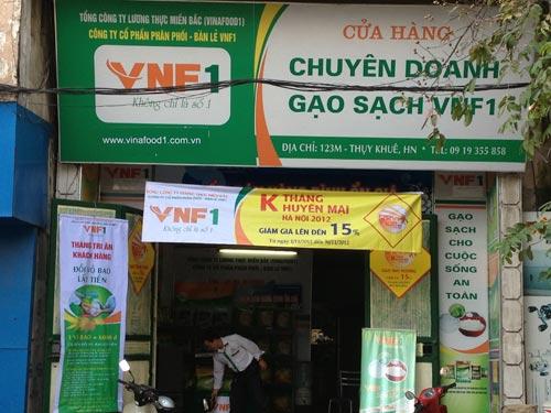 biển quảng cáo cửa hàng gạo